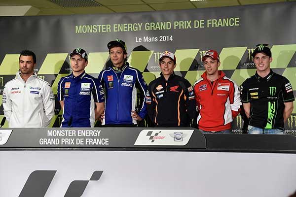 Rueda de prensa del Monster Energy GP de Francia en Le Mans