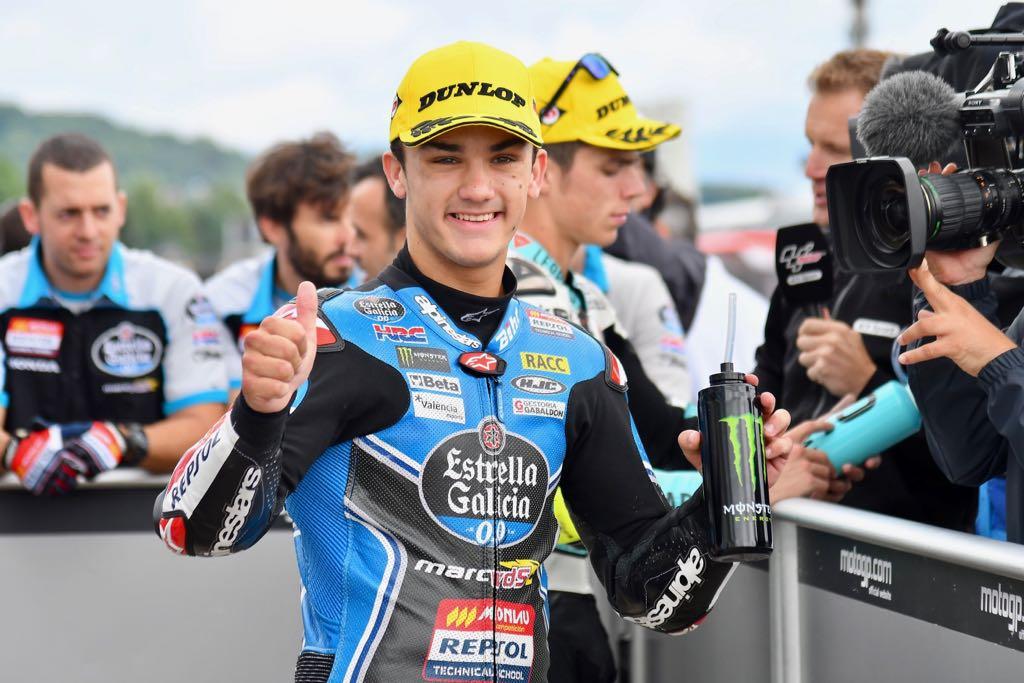 Moto3: Sensacional pole de Aron Canet en Sachsenring