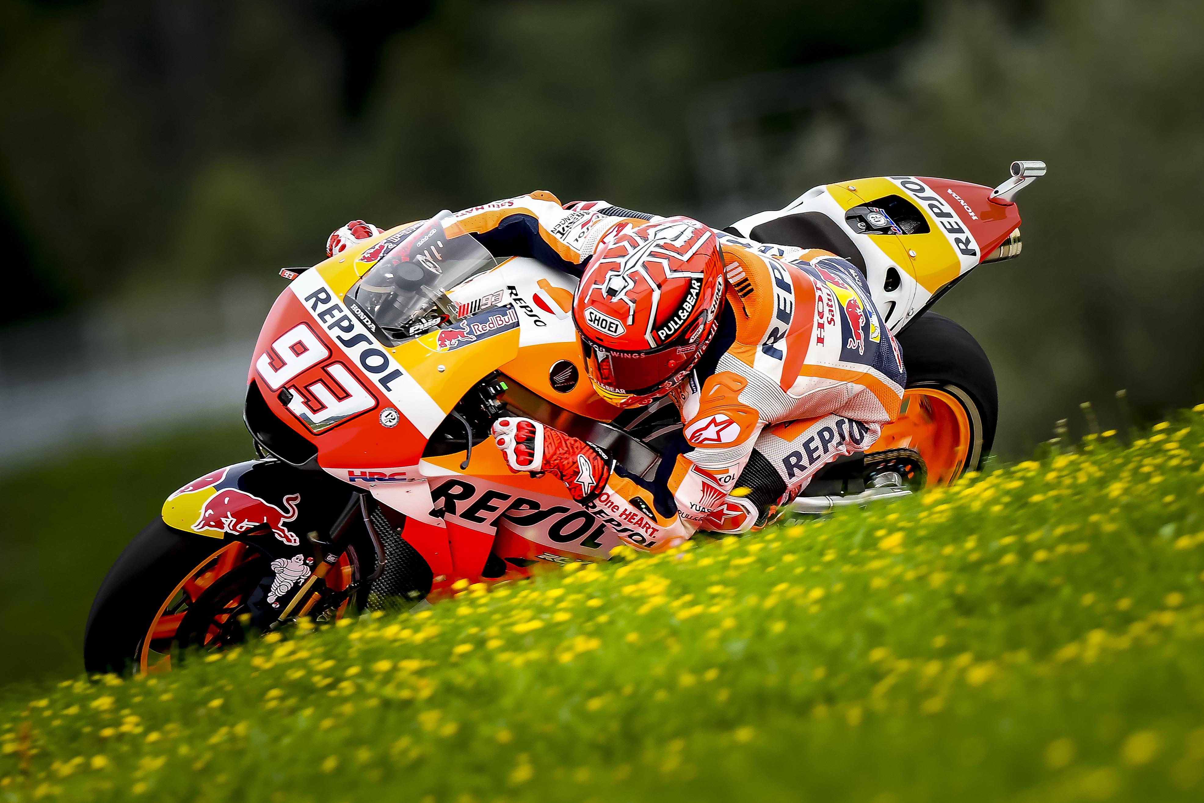 Día de carreras en el Red Bull Ring. Márquez parte desde la pole position