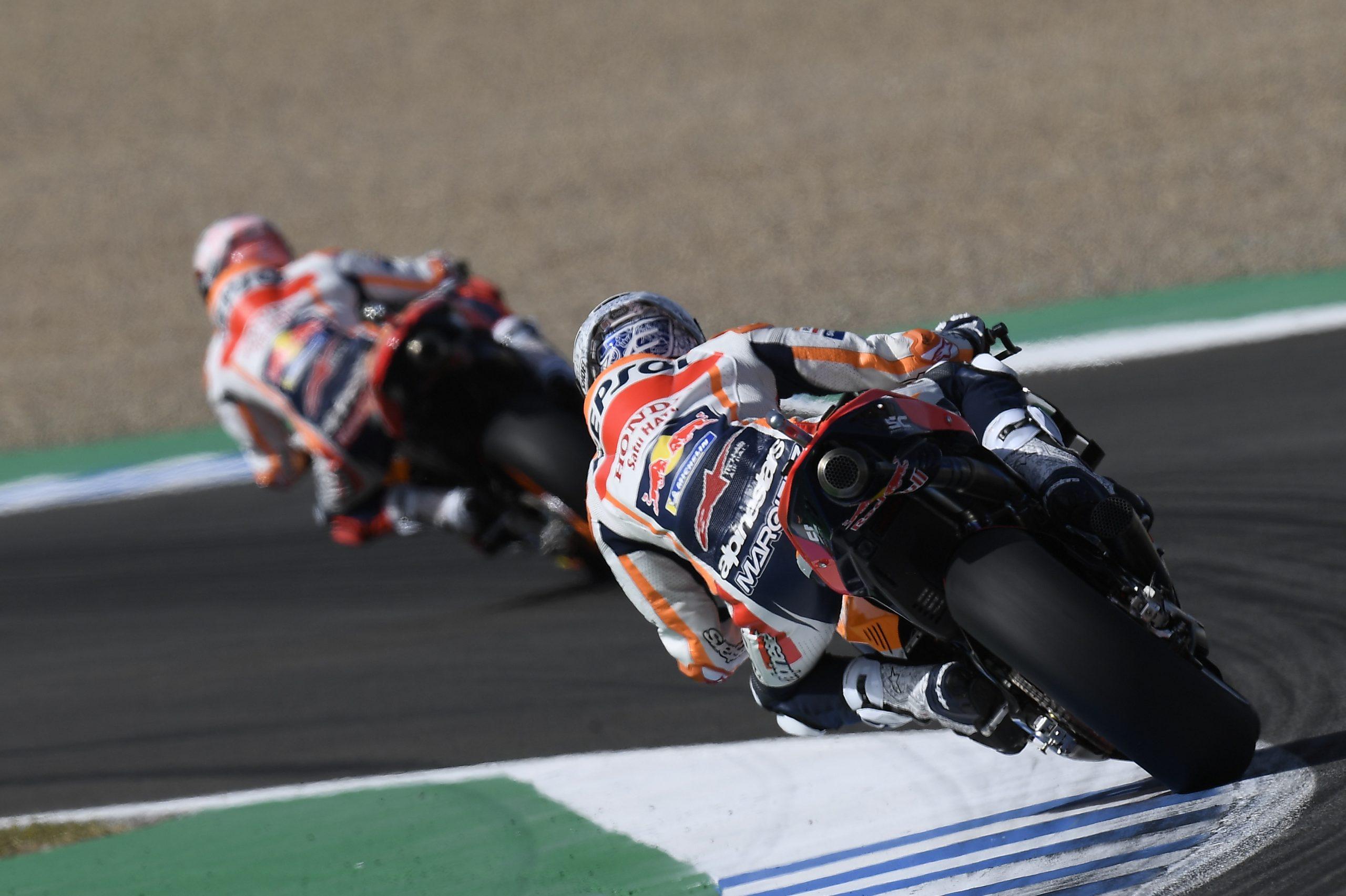 Márquez lidera los entremientos libres del GP de España.